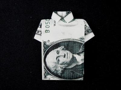 EASY Tutorial Dollar Origami T-shirt   How to fold dollar bill into a T-shirt