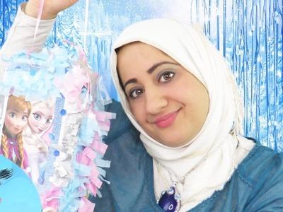 FROZEN PINATA  DIY !    Fatema's Art Show