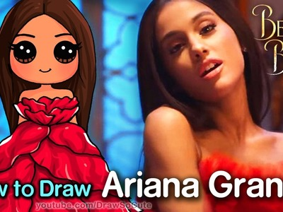 How to Draw Ariana Grande - Beauty and The Beast Music Video
