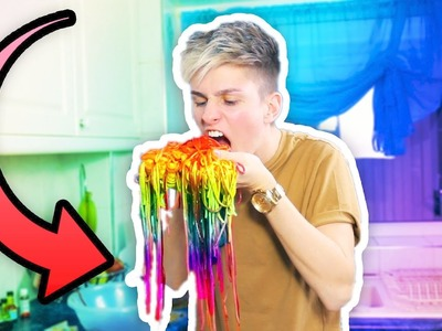 HOW TO MAKE EDIBLE RAINBOW PASTA DIY!