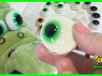 How to make gummy colors eyeballs jelly pudding! DIY rainbow gummies candy recipe for kids