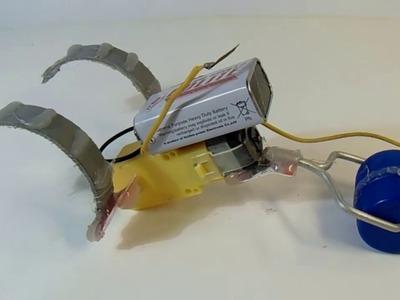 How to make  hopper-flopper running robot| DIY Robot