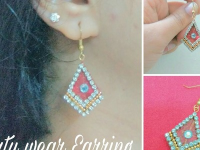 How to make Party Wear paper base Earring at home -Tutorial
