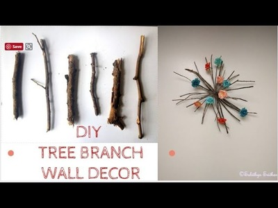How to make wall hanging out of fallen tree branches | DIY | spring wall decor