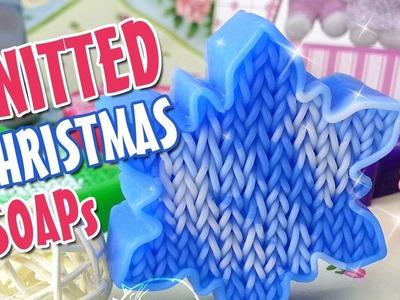 Knitted Christmas soap - DIY glycerin soap idea