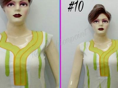 Kurti Neck Design #10 - Full Cutting and Stitching (DIY) -  Rup Fashion point