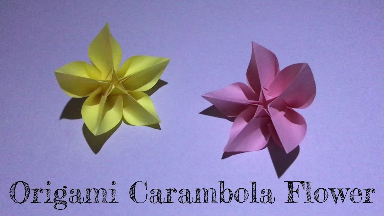 little box diy origami carambola flower �������