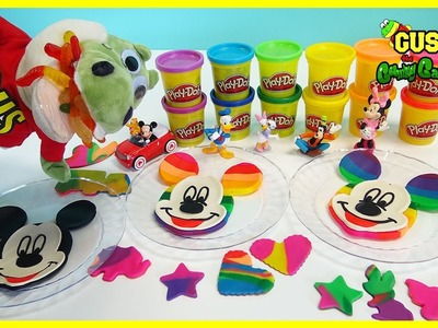 Mickey Mouse Clubhouse Play Doh Rainbow DIY playdough Learn Colors for Children Creative Play Toys
