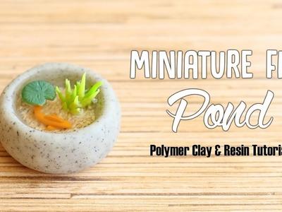 Miniature Fish Pond│Polymer Clay & Resin Tutorial