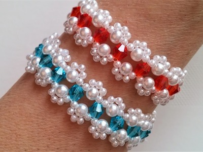 Mother's Day bracelet making . Beginners jewelry pattern