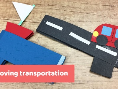 Moving paper car and a boat very easy to make