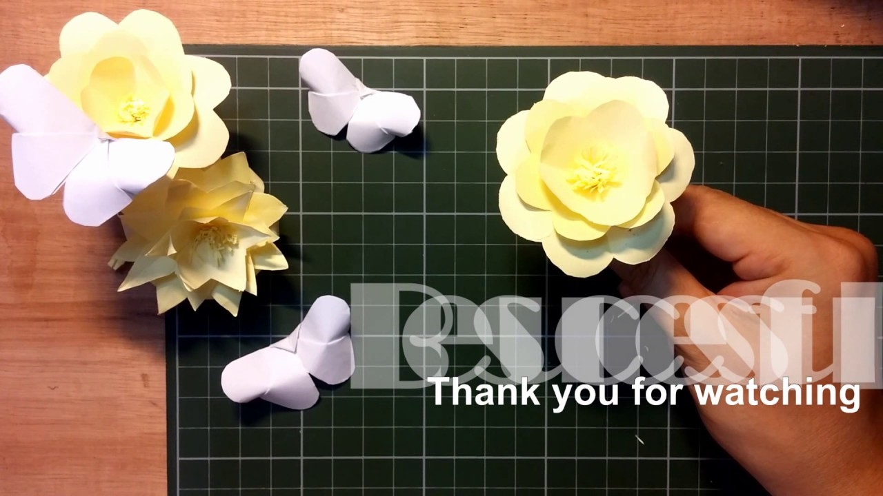 My Edited Video Paper Art Origami Flowers By Sam Creations