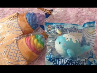 NEW RAINBOW AND GALAXY DECO SQUISHIES
