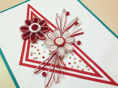 Paper Quilling Designs | How To Make A Birthday Card ???? | Paper Quilling Art