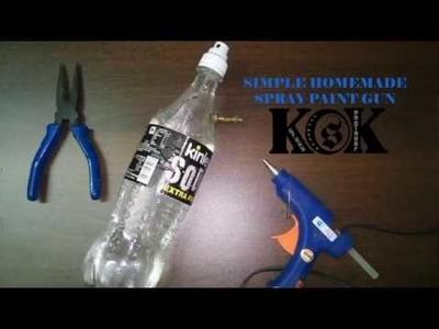 Simple DIY SPRAY PAINT gun make It (Homemade pressure sprayer)