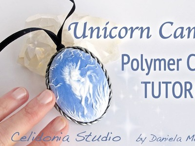 Unicorn Cameo Fairy Jewelry Polymer Clay Tutorial