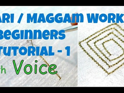 Aari Work. Maggam Work Beginners Tutorial with Voice | Tutorial 1 | Chain Stitch | Knotty Threadz!!