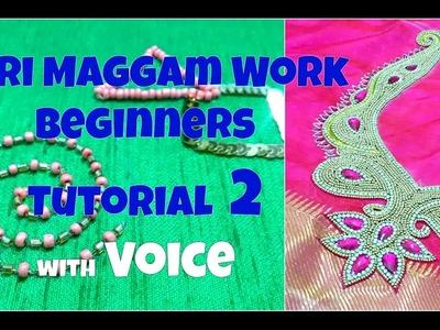 Aari Work. Maggam Work Beginners Tutorial with Voice | Tutorial 2 | Bead Work | Knotty Threadz!!