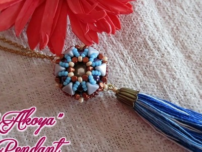 Akoya beaded pendant with minos and khéops - Beading Tutorial
