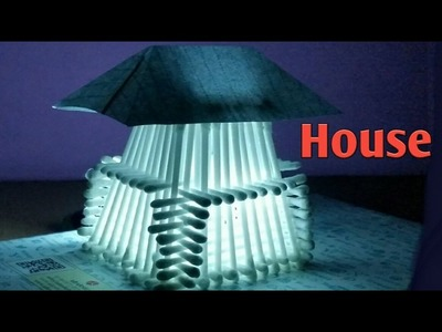 Amazing Life Hack: [DIY] How to make A House with Cotton Bud