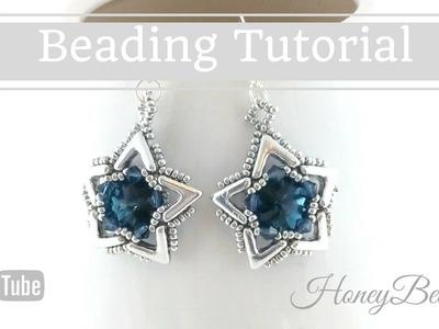 Ava Maria Star Earrings Beading Tutorial by HoneyBeads1