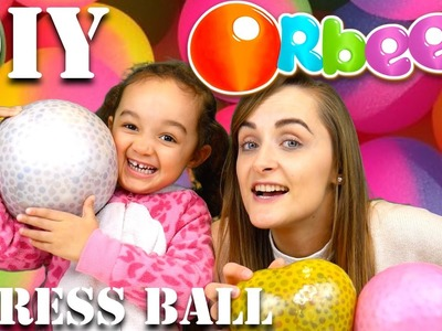 CUTTING OPEN GIANT SQUISHY DIY ORBEEZ STRESS BALL - FAMILY FUN TIME