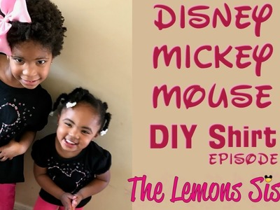 Disney DIY | Mickey Mouse T-Shirts| Episode 181