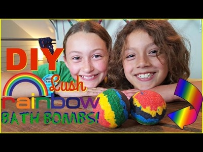 DIY Bath Bombs | Lush Rainbow Bath Bombs ???? SuperDuperKidsBlog Collab with theBOWgirls