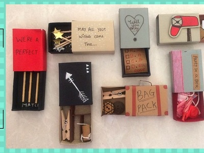 DIY CUTE GIFT FOR BEST FRIEND || MADE WITH MATCHBOX ||