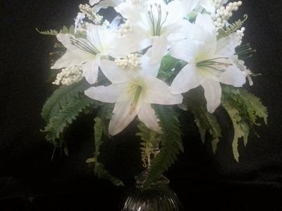 DIY Dollar Tree Lily Wedding Centerpiece that lights up!
