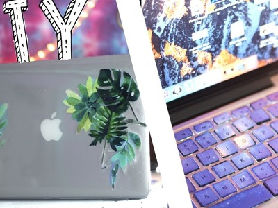 DIY LAPTOP DECOR 2017 || KEYBOARD & MACBOOK COVER ♥