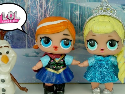 DIY LOL Surprise Dolls Custom Frozen Elsa & Anna Toddlers   Lil Outrageous Littles - Titi Dolls