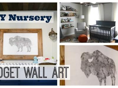 DIY Nursery Decor Wall Art | Boy Nursery Decor on a Budget
