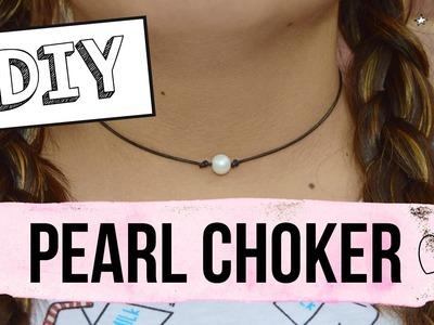 DIY Pearl choker