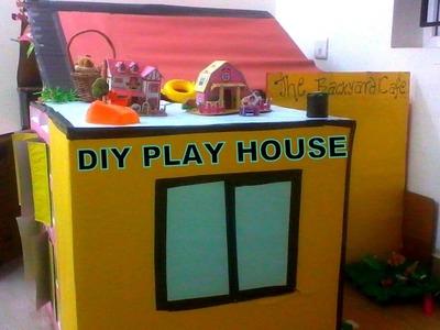 DIY Play House for Kids - Cardboard Play House