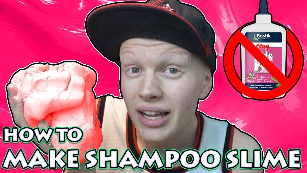DIY SHAMPOO SLIME - HOW TO MAKE SLIME (NO GLUE & NO BORAX)