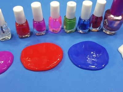 Diy slime ! How to make slime with nail polish and baby shampoo ,No glue