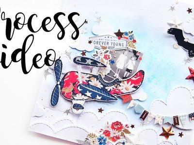 Flowers & Airplanes | Scrapbook Process Video