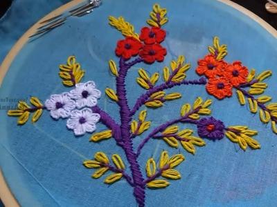 Hand Embroidery Buttonhole Stitchby Amma Arts