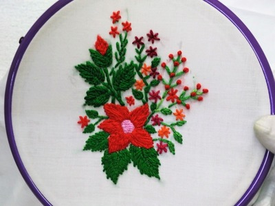 Hand Embroidery - Flower with Romanian Stitch