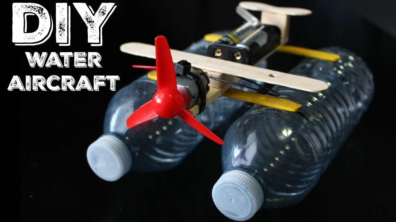 How To: DIY WATER AIRCRAFT.RECYCLE PLASTIC BOTTLES!!