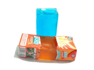 How to make gummy jelly without gelatin DIY Homemade Jello with milk carton