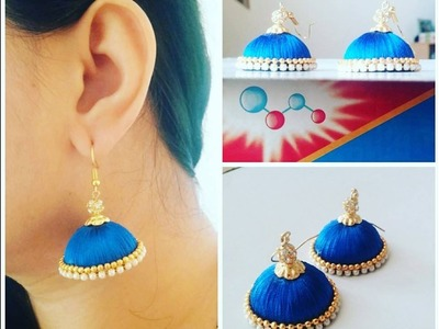 How to make Silk Thread Jhumka Tutorial