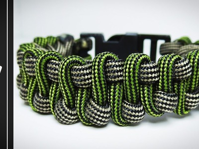 How to make The Slithering Snake Paracord Survival Bracelet With Buckle [Tutorial]