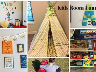 Kids Room Tour and DIY Decor.Organization