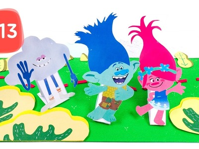 Learn Body Parts Names with Trolls Poppy&Branch SCRAPBOOK Stop Motion Story #13 - By MagicPang