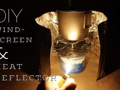 Make Your Own Ultralight Windscreen & Heat Reflector - DIY