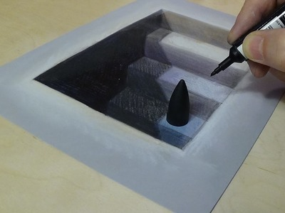 New 3D Art - 3D Drawing Stairs to the Depths
