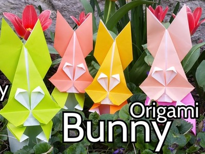 Origami Bunny Face for Mister Rabbit ???? Easy Tutorial for your Easter Crafts projects