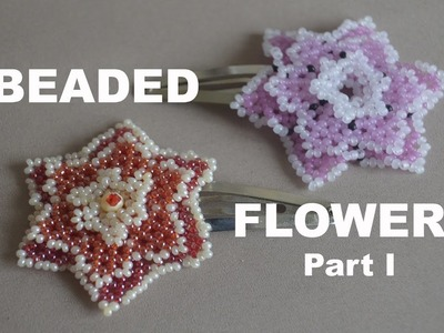 Pretty BEADED FLOWERS. Part 1 of the Tutorial in English!